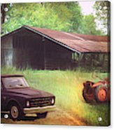 Scenes From The Past - Trucks And Tractors Acrylic Print