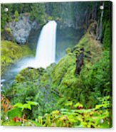Scenic View Of Waterfall, Portland Acrylic Print