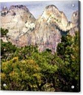 Scenic Zion - Mount Carmel Highway Drive 4 Acrylic Print