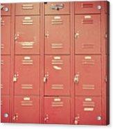 School Lockers Acrylic Print