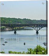 Schuylkill River View - Strawberry Mansion Bridge Acrylic Print