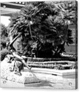 Sculpture Getty Villa Black White  Acrylic Print
