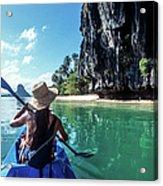 Sea Kayaking Acrylic Print