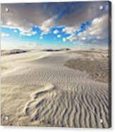 Sea Of Sand - Endless Dunes At White Sands New Mexico Acrylic Print