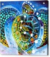 Sea Turtle Says Acrylic Print