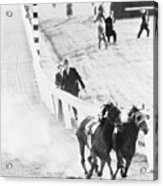 Seabiscuit And War Admiral Racing Acrylic Print