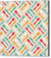 Seamless Cute Pattern With Color Acrylic Print