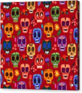 Seamless Pattern-mexican Day Of The Acrylic Print