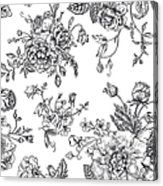 Seamless  Pattern With Bouquet Of Acrylic Print