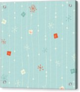 Seamless Vintage Winter Pattern Acrylic Print