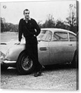 Sean Connery With 007s Aston Martin Acrylic Print
