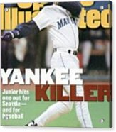 Seattle Mariners Ken Griffey Jr, 1995 Al Division Series Sports Illustrated Cover Acrylic Print