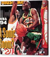 Seattle Supersonics Gary Payton... Sports Illustrated Cover Acrylic Print