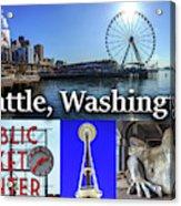 Seattle Washington Waterfront 02 Acrylic Print