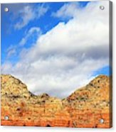 Sedona Jack's Trail Blue Sky, Clouds Red Rock Hills 5032 3 Acrylic Print