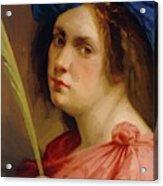 Self Portrait As A Female Martyr 1615 Acrylic Print