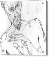 Self-portrait Pencil Reach 11 Acrylic Print