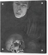 Self-portrait With A Scull Acrylic Print