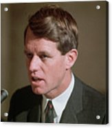 Senator Robert Kennedy Addressing Acrylic Print
