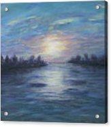 Serene River Sunset Acrylic Print