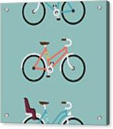 Set Of Three Modern Vector Flat Design Acrylic Print