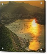 Setting Sun Over Botafogo Acrylic Print