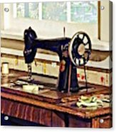 Sewing Machine In Kitchen Acrylic Print