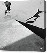 Shadow Of Skateboarder Acrylic Print