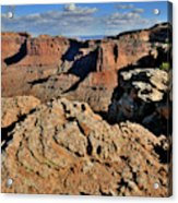Shafer Canyon In Canyonlands Np Acrylic Print