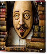Shakespeare With Old Books Acrylic Print