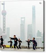 Shanghai Morning Tai Chi Acrylic Print