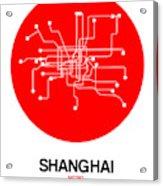 Shanghai Red Subway Map Acrylic Print