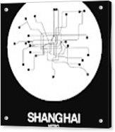 Shanghai White Subway Map Acrylic Print