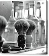 Shaving Brushes At Barbershop Acrylic Print