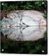 Shawanaga Rock And Reflections Iv Acrylic Print