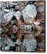 Shawanaga Rock And Reflections Vi Acrylic Print