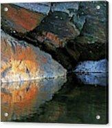 Shawanaga Rock And Reflections Xi Acrylic Print