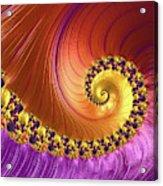 Shiny Purple And Gold Spiral Acrylic Print