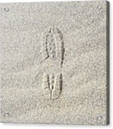 Shoe Print In Sand Acrylic Print