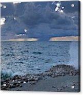 Shoreline Rain Clouds Acrylic Print