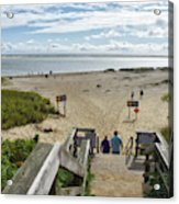 Shoreline Staircase By Uscg Station Chatham Cape Cod Massachusetts Acrylic Print
