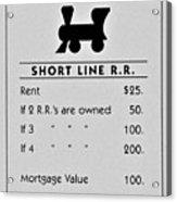 Short Line R.r. Acrylic Print