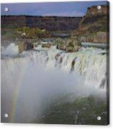 Shoshone Falls Rainbow Acrylic Print