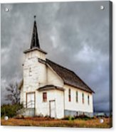 Shuttered Church In Cartwright North Dakota Acrylic Print