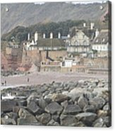 Sidmouth Sea Front Acrylic Print