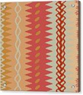 Sienna Peach Abstract Acrylic Print