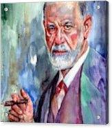 Sigmund Freud Portrait II Acrylic Print