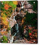 Silver Cascades In The White Mountains Acrylic Print