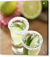 Silver Tequila, Limes And Salt Acrylic Print