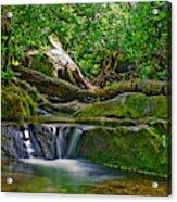 Sims Creek Waterfall Acrylic Print